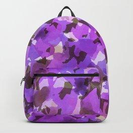 Red Violet Field Flowers Backpack