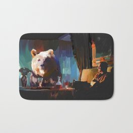 The Dinner Guest or The Bear who came to Dinner Bath Mat