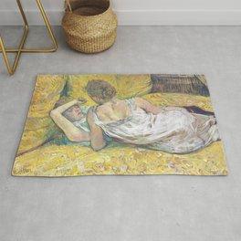 """Henri de Toulouse-Lautrec """"L'abandon (Les deux amies)"""" Rug"""