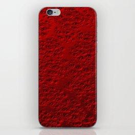 Damaged red metal iPhone Skin