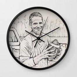 Brett Favre Wall Clock