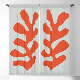 Matisse leaf poster, abstract modern art, framed matisse print, eclectic plant wall decor, contempor Blackout Curtain