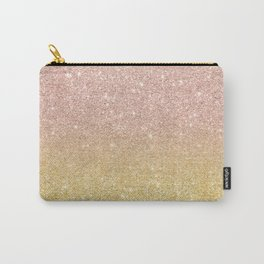 Modern rose gold glitter ombre gold glitter Carry-All Pouch