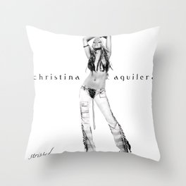 Christina Aguilera - Stripped Throw Pillow