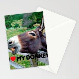 I Love My Donkey Funny Mule Farm Animal Stationery Cards