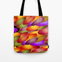 balloons Tote Bags featuring Balloons by dominiquelandau