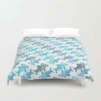 shark Duvet Covers featuring Shark by Michelle McCammon