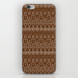 Mudcloth Style 1 in Brown iPhone Skin