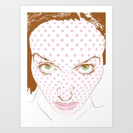 Pop art face Art Print