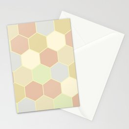 Honeycomb pastel Stationery Cards