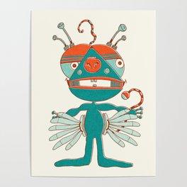 Robot Alien Monster No 068 Poster