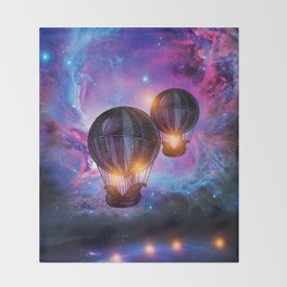 Space trip. Throw Blanket