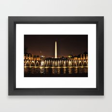 Washington Monument From WWII Memorial Framed Art Print