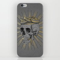 stay gold iPhone & iPod Skins featuring stay gold by Laura Graves