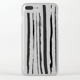 Simple Black and white stripes pattern Clear iPhone Case