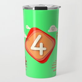 Number four - Kids Art Travel Mug