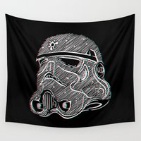 soldier Wall Tapestries featuring 3D Soldier by luis pippi