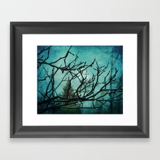 Winter Rain Framed Art Print