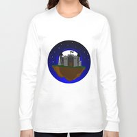 castle in the sky Long Sleeve T-shirts featuring Castle in the Sky by AjDreamCraft