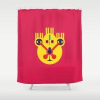 lsd Shower Curtains featuring LSD: Dream Emulator Character B9 by G.D.D.E