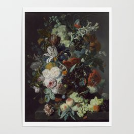 Jan van Huysum Still Life with Flowers and Fruit Poster