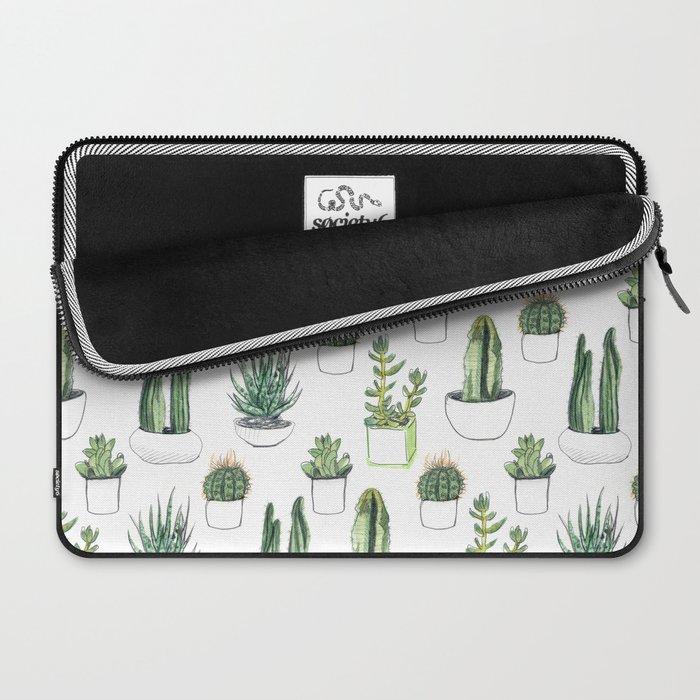 Watercolour Cacti & Succulents Laptop Sleeve