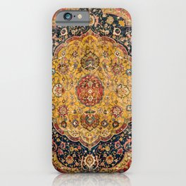 Indian Boho III // 16th Century Distressed Red Green Blue Flowery Colorful Ornate Rug Pattern iPhone Case