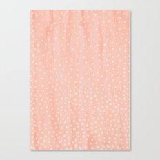 Beige Dots Canvas Print