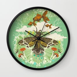 EVENING PSYCHEDELIA Wall Clock