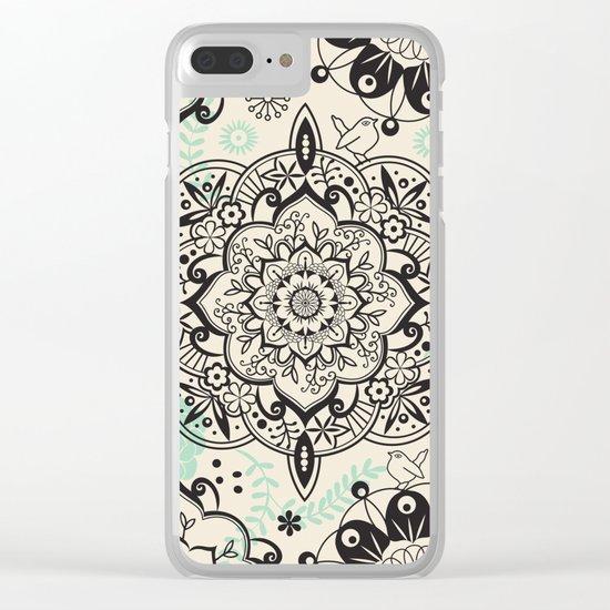 Mandala pattern Clear iPhone Case