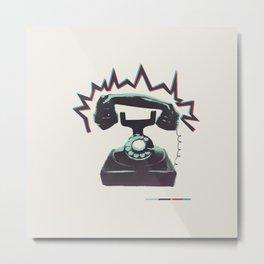 Rotary Phone Metal Print