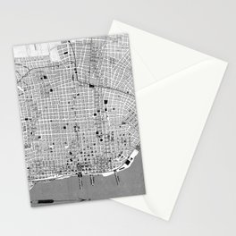 Vintage Map of Buenos Aires Argentina (1888) Stationery Cards