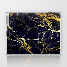 BlueBlack-Gold Marble Galaxy Impress Laptop & iPad Skin