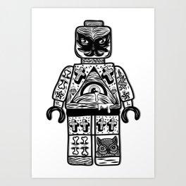 leggo man #1 Art Print