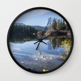 Beautiful Fall Day at Fish Lake Wall Clock