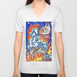 Devil in a Blue Suit Unisex V-Neck