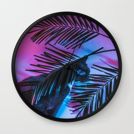 Favorite Things: My Cat and Palm Trees Wall Clock