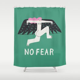 No Fear Shower Curtain