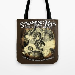 Steaming Mad Boiler Repair Tote Bag