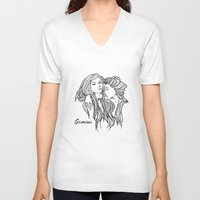 gemini V-neck T-shirts featuring Gemini by unity #22