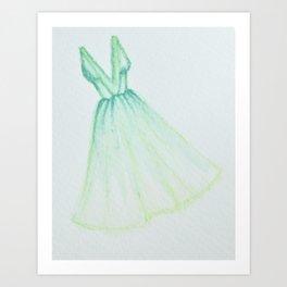 Not a real green dress - that's cruel Art Print