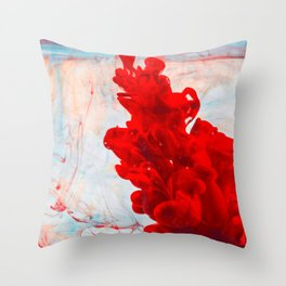 Red Ink Flow, What Does Your Subconscious Mind See? Throw Pillow