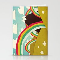 olivia joy Stationery Cards featuring Happy happy joy joy! by Yetiland
