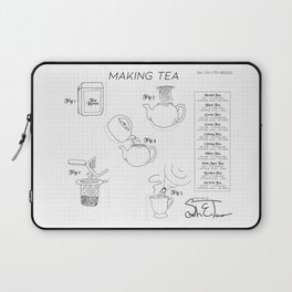 Making Tea Blueprint Laptop Sleeve