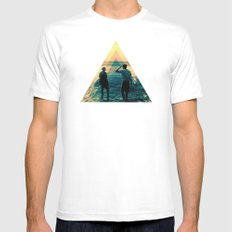 Shape of the ocean MEDIUM Mens Fitted Tee White