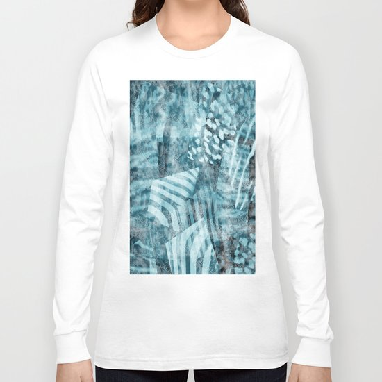 Blue safari Long Sleeve T-shirt