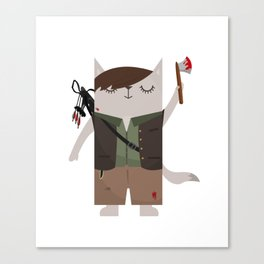 Daryl Dixon the Cat Canvas Print