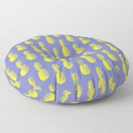 Pineapples - Purple & Yellow #417 Floor Pillow