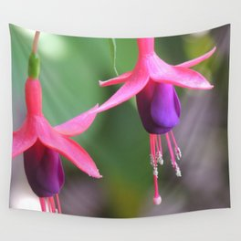 Fuchsia in the Rose Garden Wall Tapestry