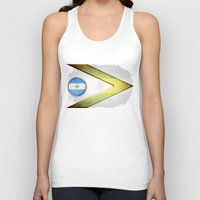 argentina Tank Tops featuring Argentina by ilustrarte
